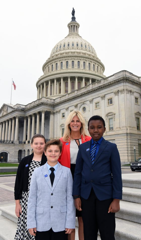 Holly Grove Solve for Tomorrow team on Capitol Hill