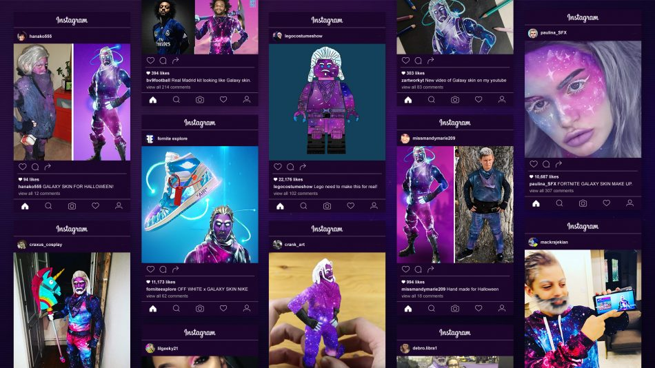 Samsung x Fortnite Galaxy Skin Social Media