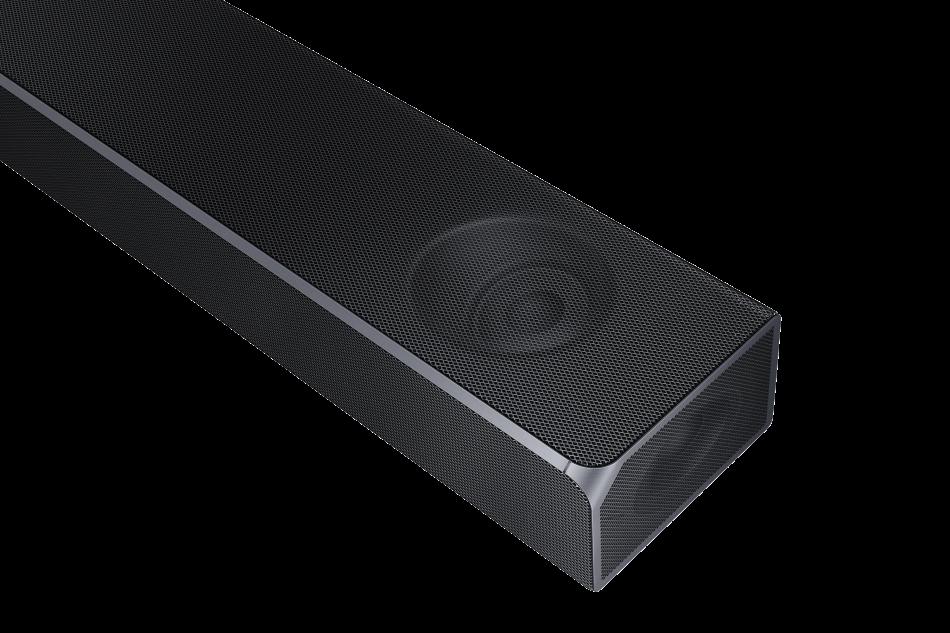 Samsung Q Series Soundbar HW-Q90R_010_Top-Detail_Carbon Silver