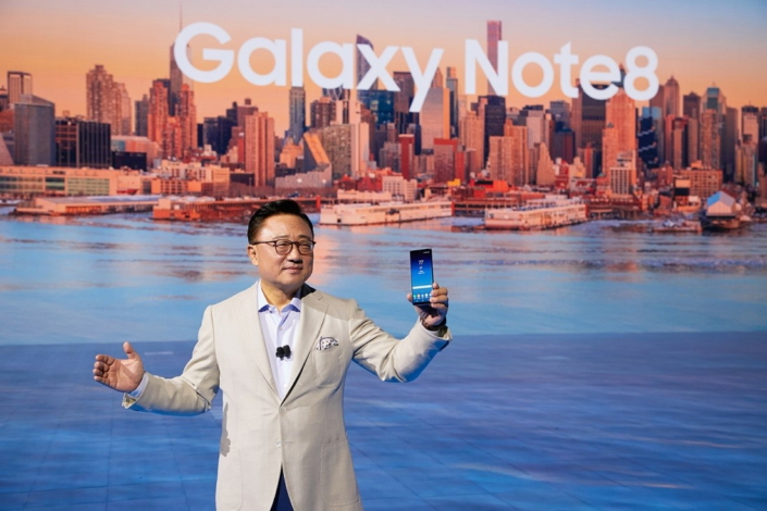 Koh unveils the new Galaxy Note8.