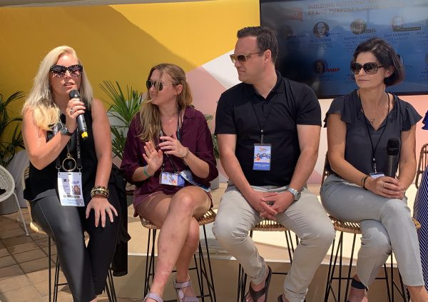 Michelle Crossan-Matos speaks at Cannes Lion 2019.