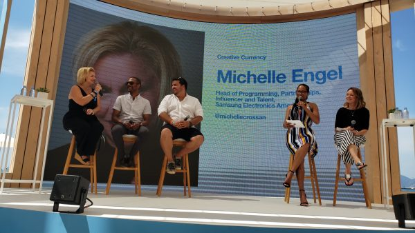 Michelle Crossan-Matos speaks on a panel at Cannes Lions 2019