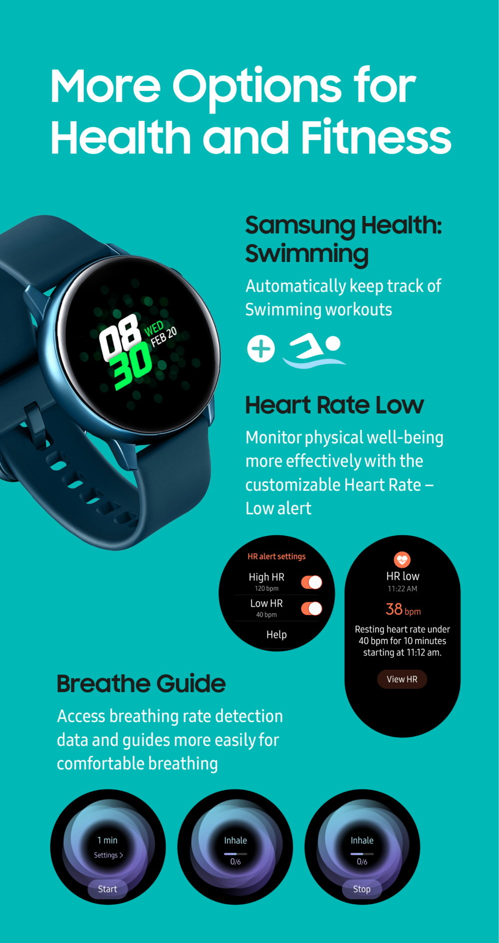 Galaxy Watch Active Infographic