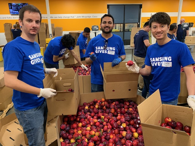 Interns at Second Harvest Food Bank in California