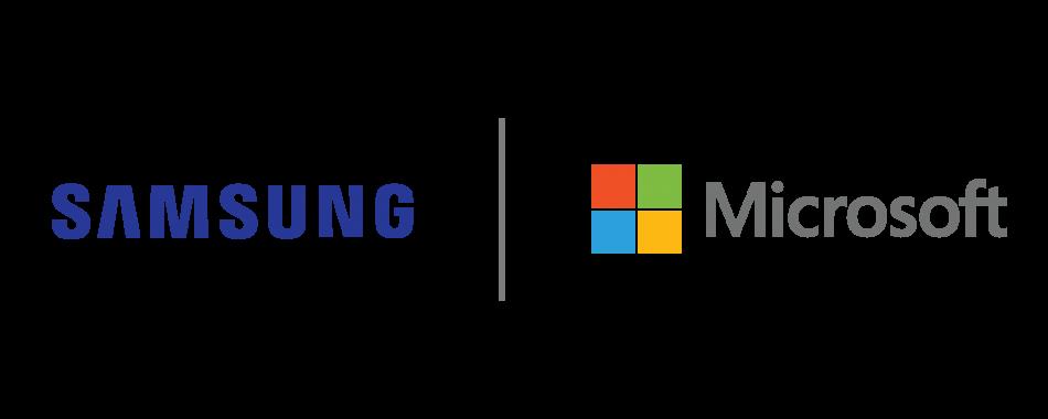 Samsung Microsoft Logos