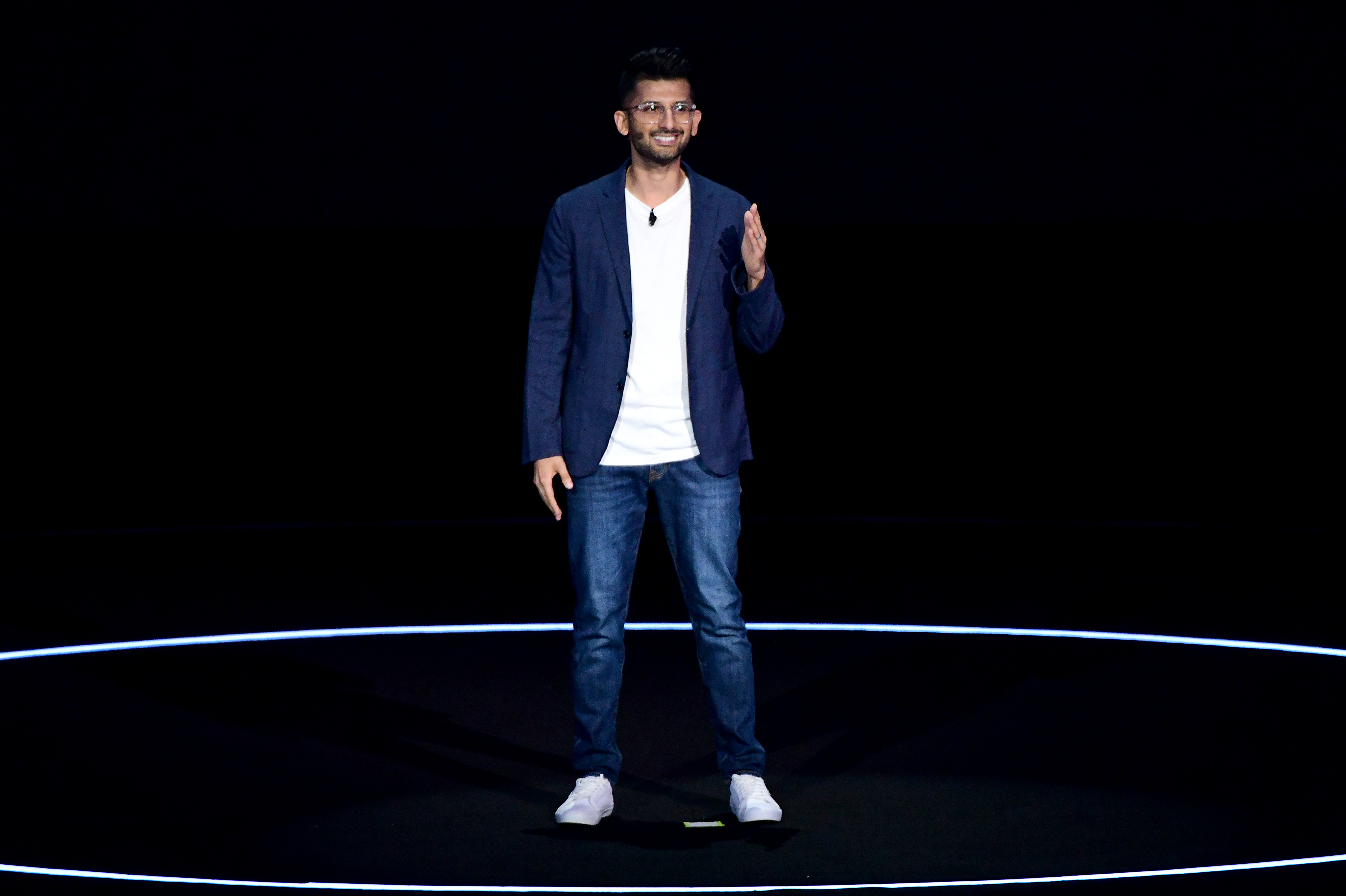 Director of US Product Strategy & Marketing Mobile Computing Hassan Anjum speaks onstage during Samsung Unpacked New York City at Barclays Center at Barclays Center on August 07, 2019 in New York City. (Photo by Bryan Bedder/Getty Images for Samsung)