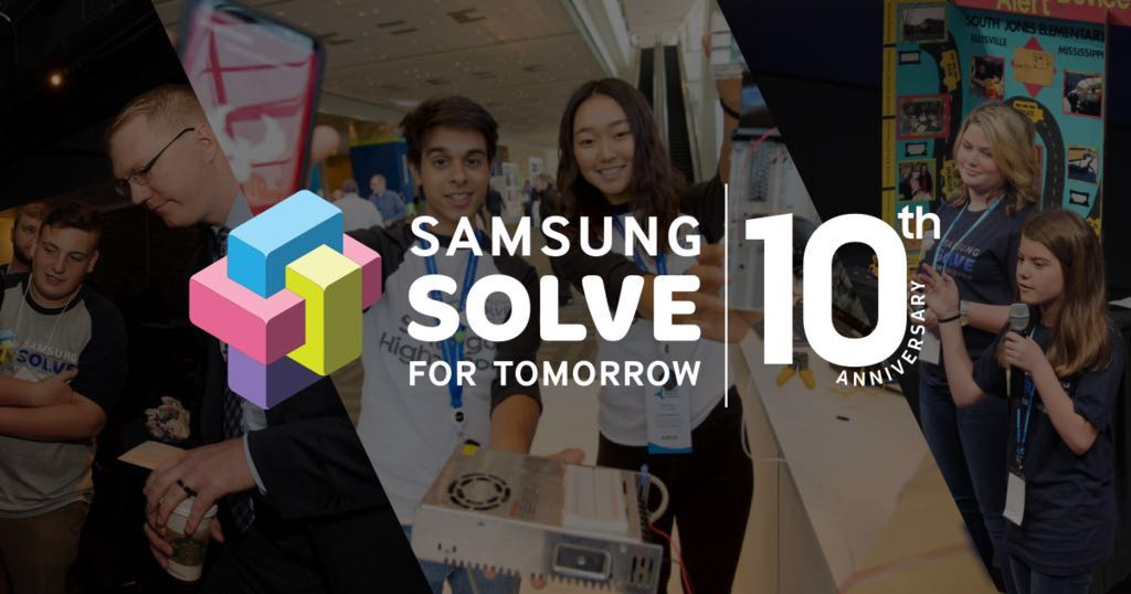 Samsung Solve for Tomorrow 10th Anniversary Banner