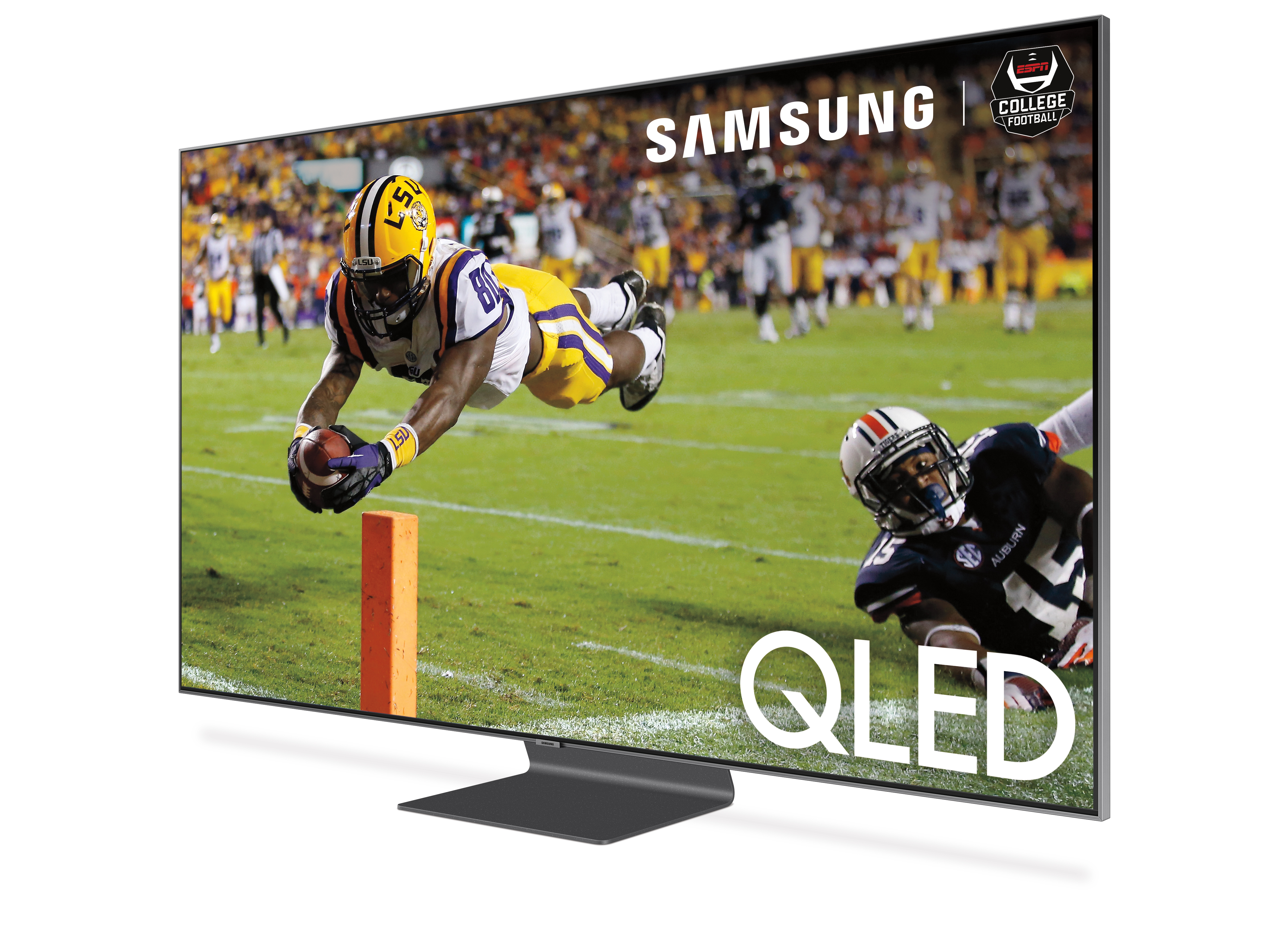 Samsung ESPN First Live Native 4K Sports Telecasts Q90R-angled