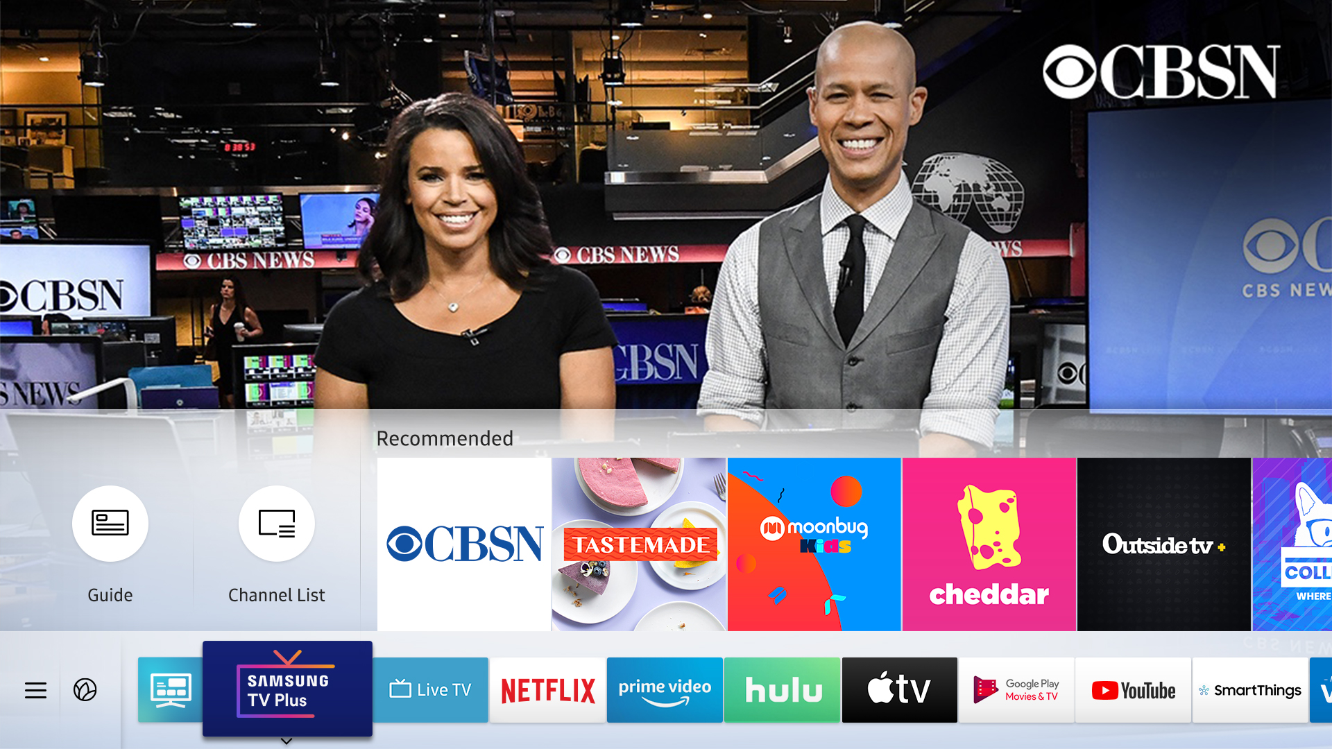 Cbsn Joins Over 70 Free Tv Channels On Samsung Tv Plus