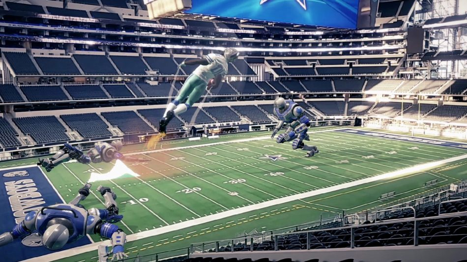 Dallas Cowboys augmented reality game rendering