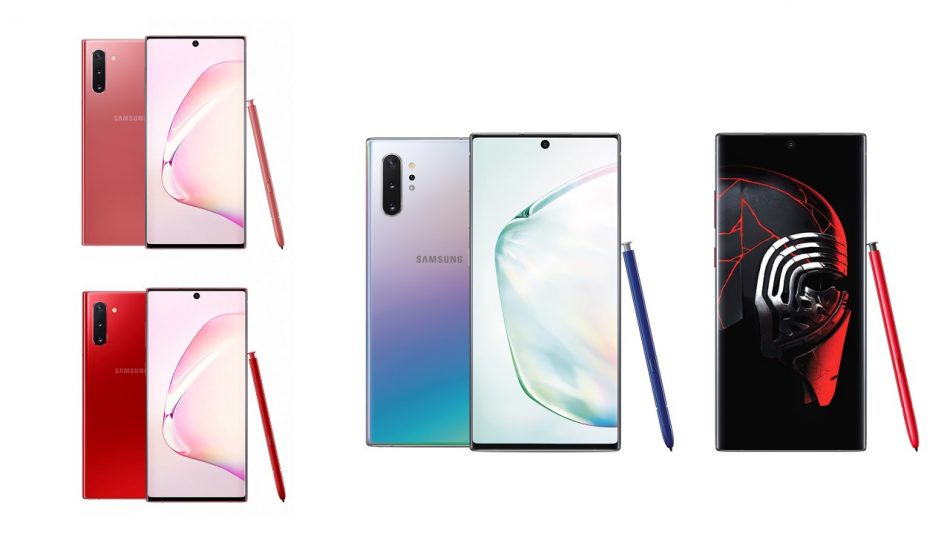 Galaxy Note10_Aura Red_Aura Pink and Note10+ Star Wars edition