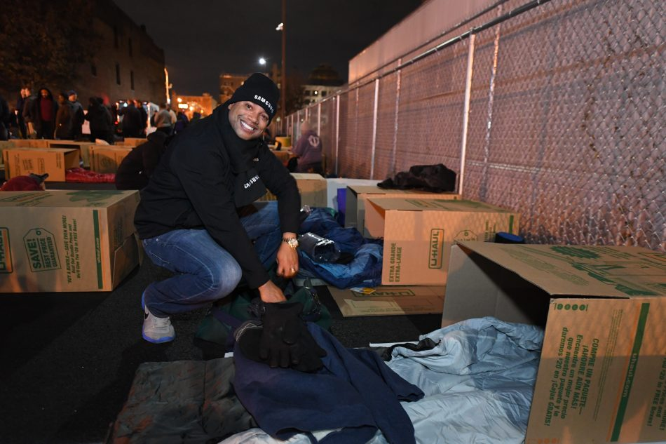 Jamal Haughton at Covenant House Executive Sleep Out 2019