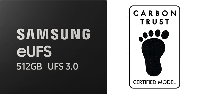 Samsung 512GB eUFS 3.0 memory to earn Carbon Footprint and Water Footprint Certifications from Carbon Trust