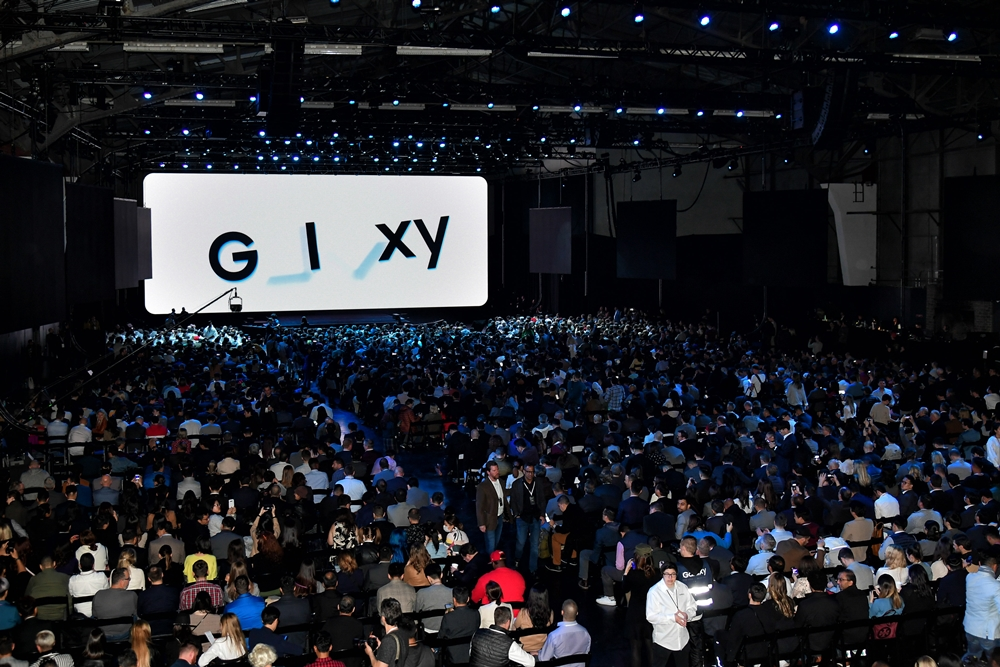 Attendees eagerly await the start of Galaxy Unpacked 2020 inside San Francisco's famous Palace of Fine Arts.