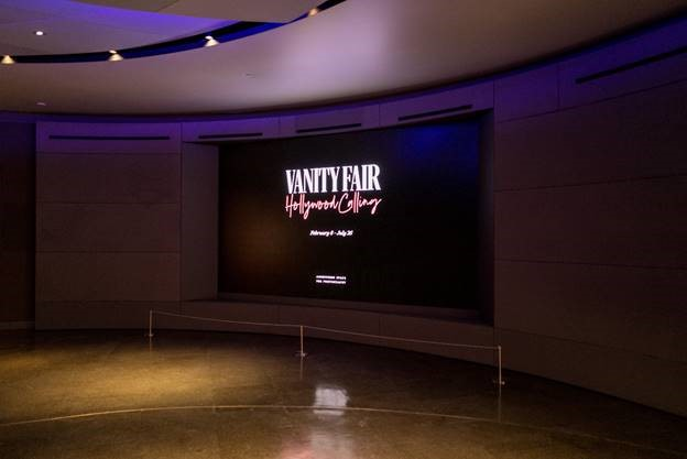 """The Wall at the Annenberg Museum's newest exhibit, """"Vanity Fair: Hollywood Calling"""