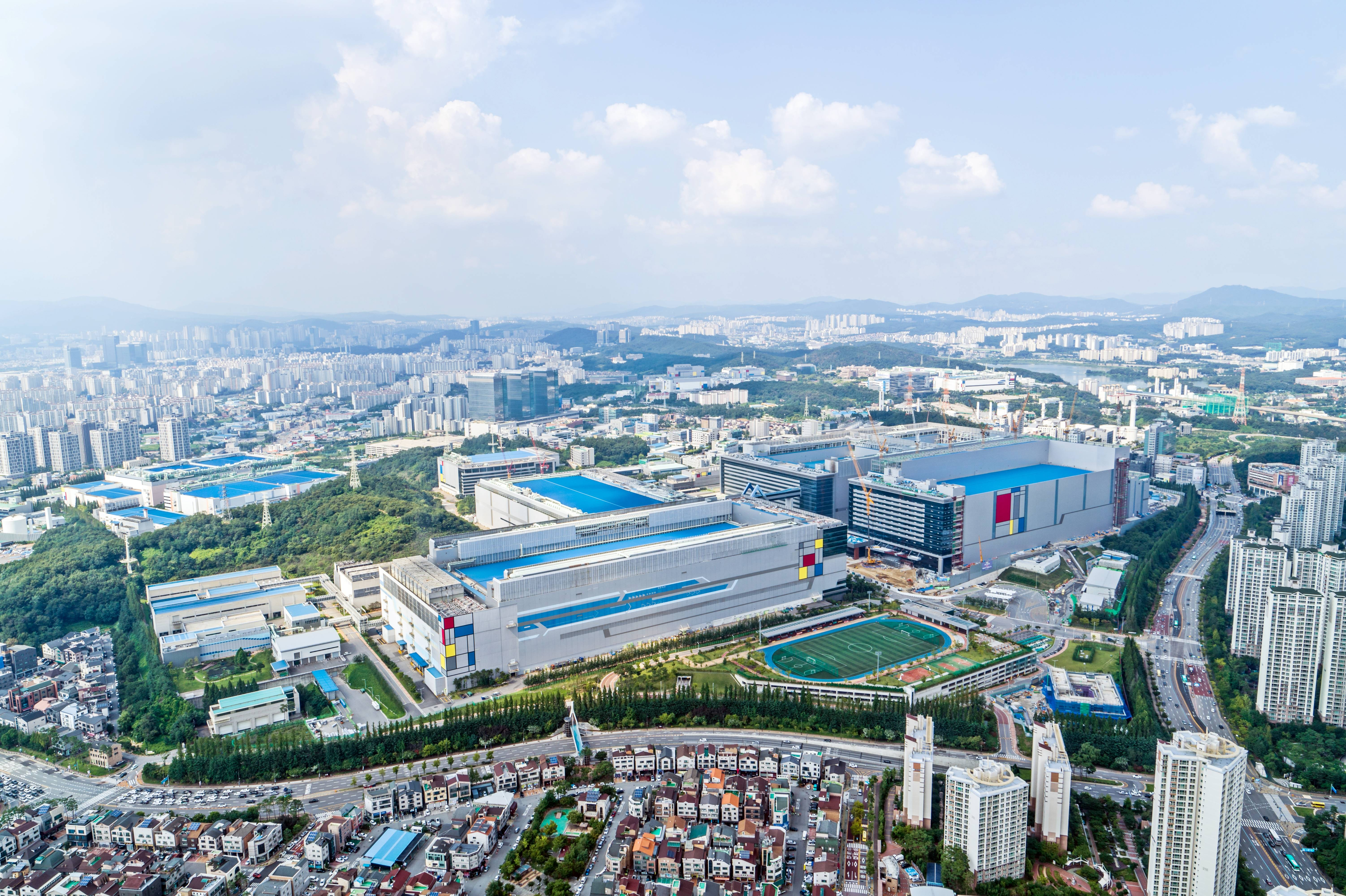 Samsung Hwaseong Campus, one of Samsung's main chip manufacturing bases is located in Giheung, South Korea.