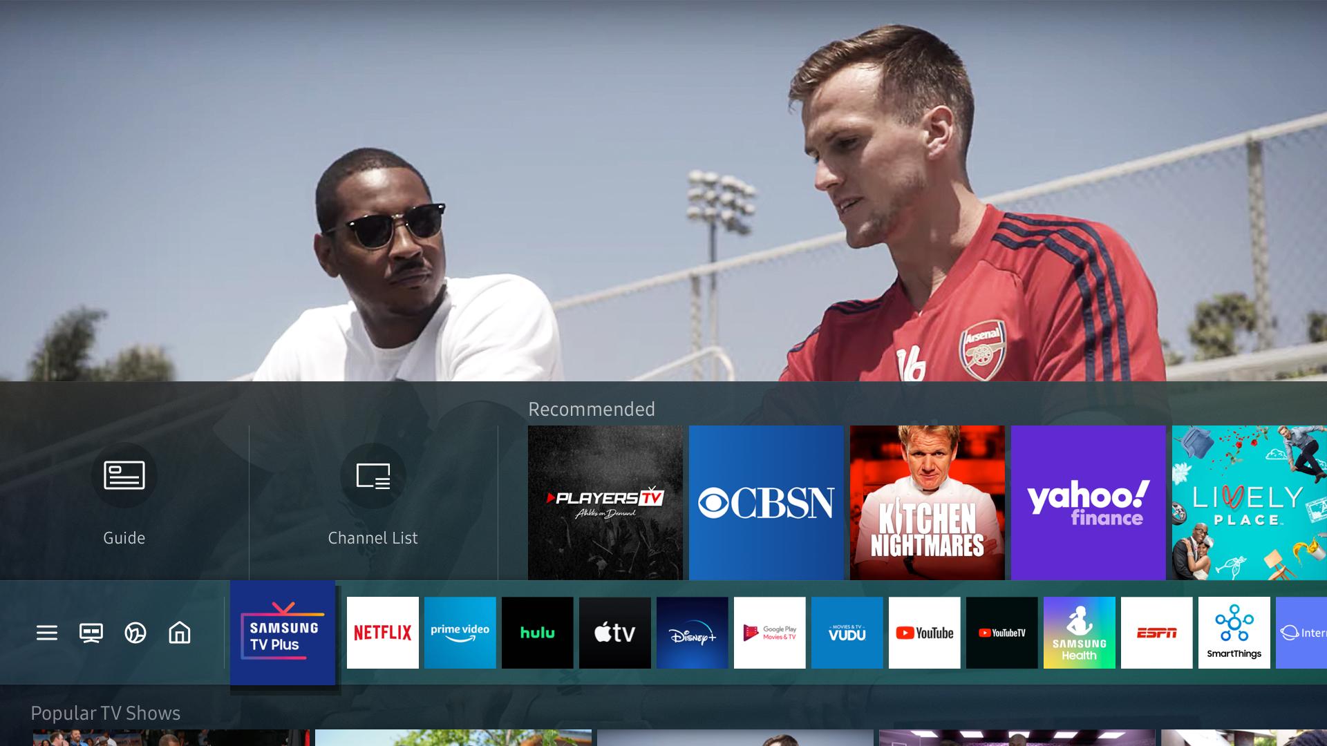 PlayersTV on Samsung TV Plus screenshot