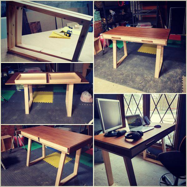 Collage of DIY Desk Renovation