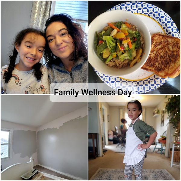 Family Collage of Food and Home Repair Activities