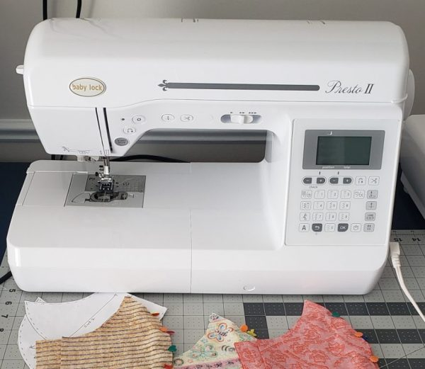 Sewing Machine & Homemade Fabric Face Masks