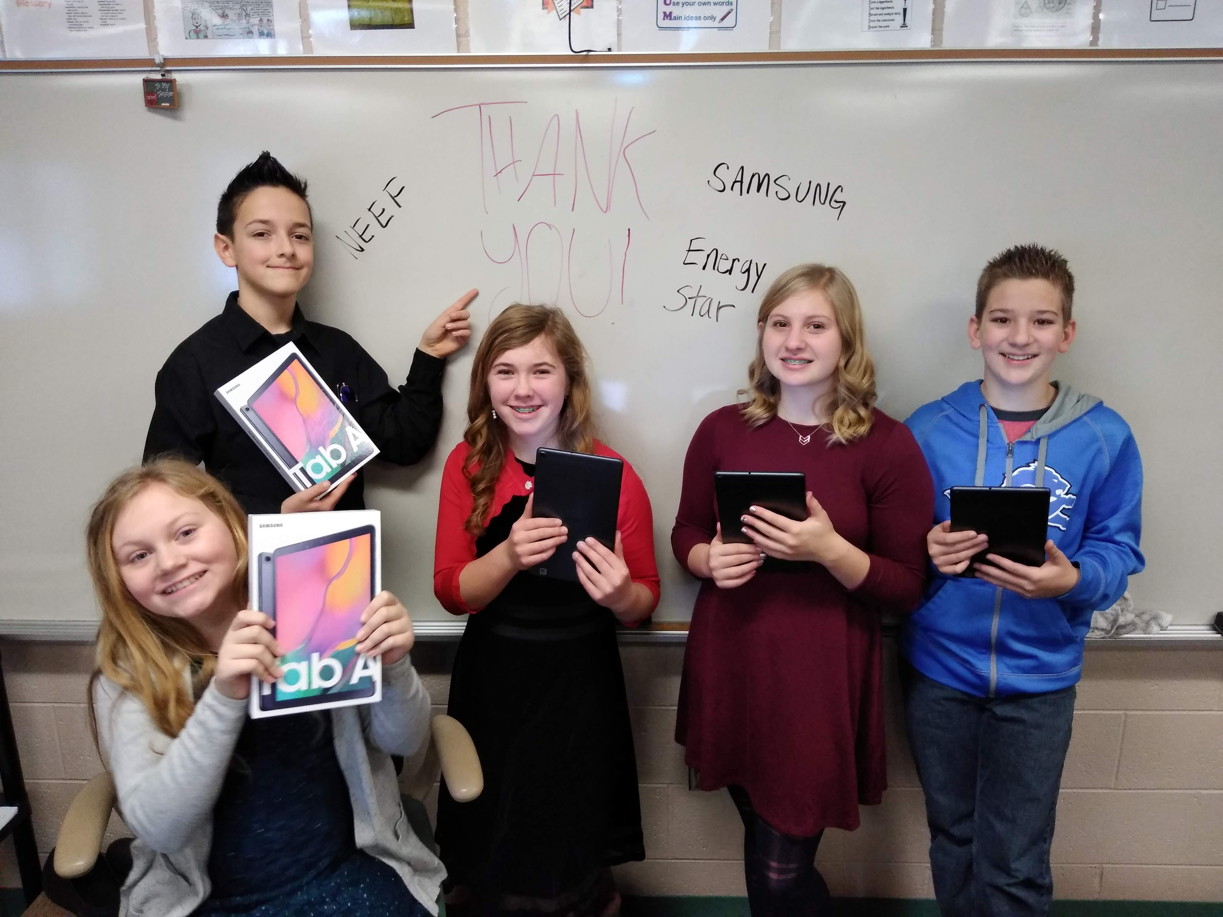 Earth Science students in Ishpeming, Michigan, were one of 20 classrooms to win Samsung technology for their successful completion of the Climate Superstars Challenge in November 2019.