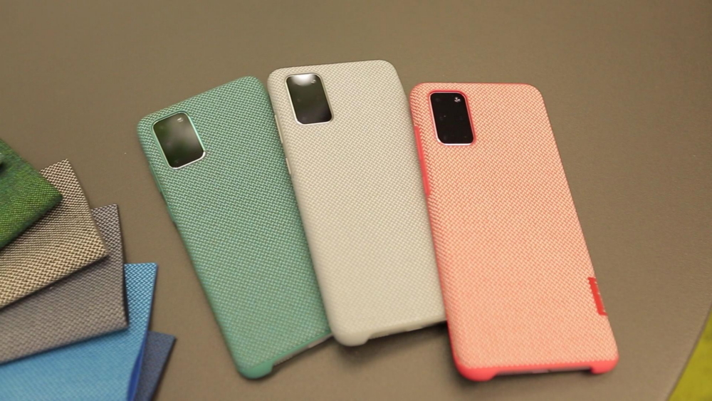 Samsung's sustainable Galaxy S20+ cases, created in collaboration with Kvadrat