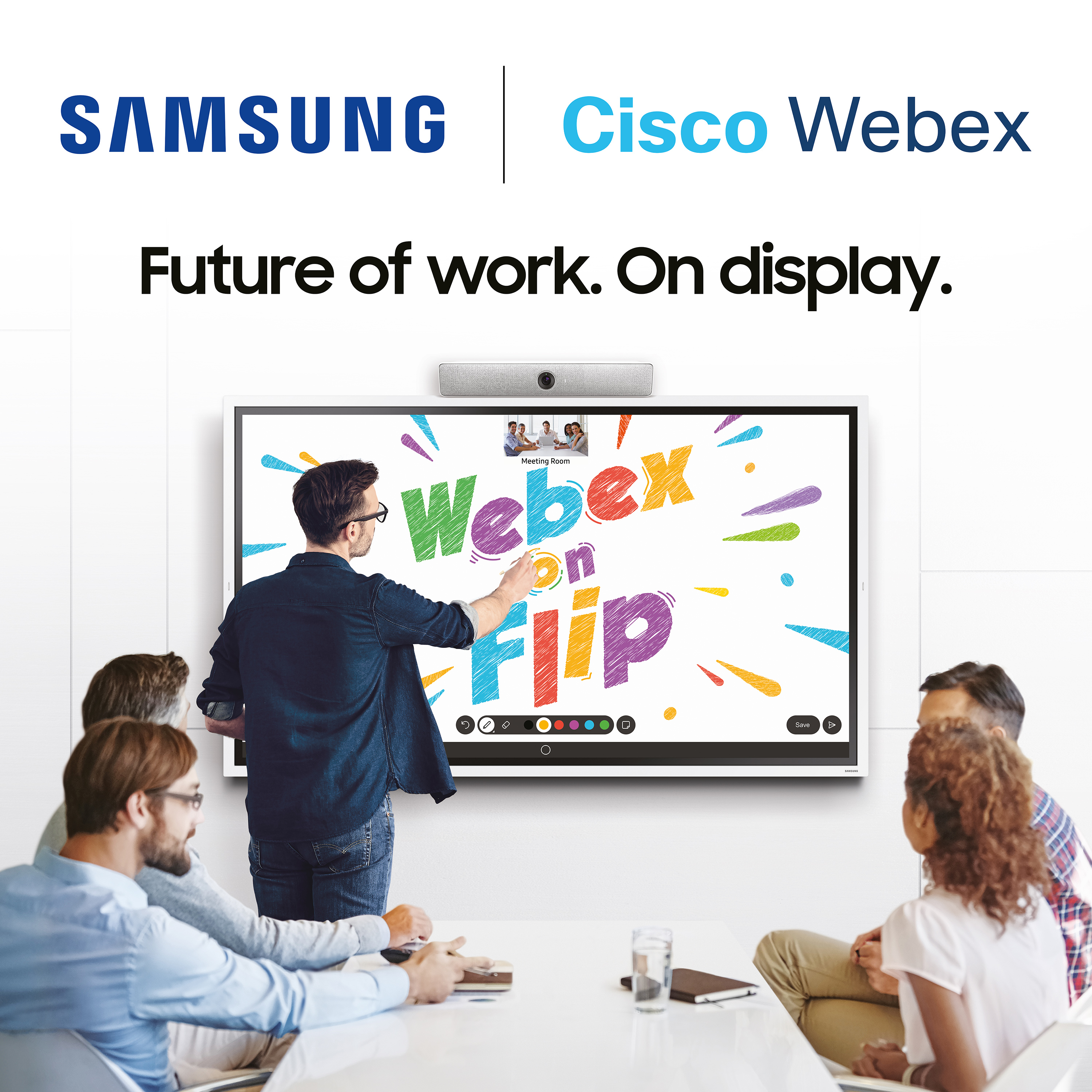 Cisco Webex on Samsung Flip