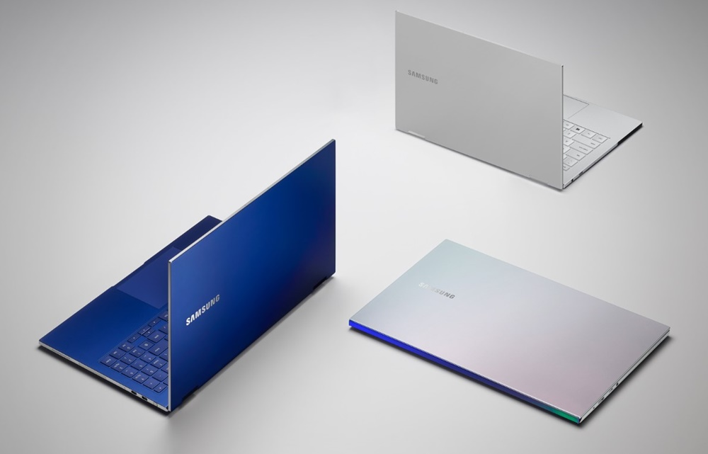 (Clockwise from left) Galaxy Book Flex Royal Blue, Galaxy Book Flex Royal Silver, Galaxy Book Ion Aura Silver