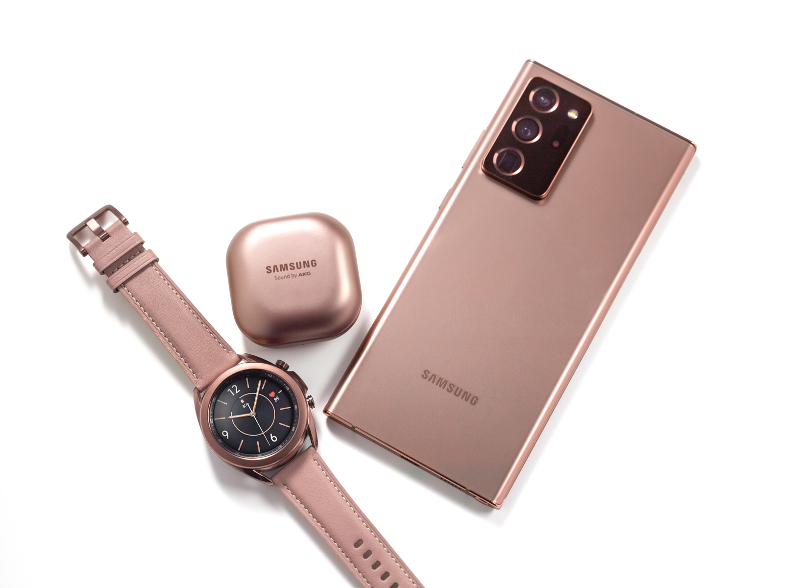 Galaxy Note20 Ultra, Galaxy Buds Live, Galaxy Watch3
