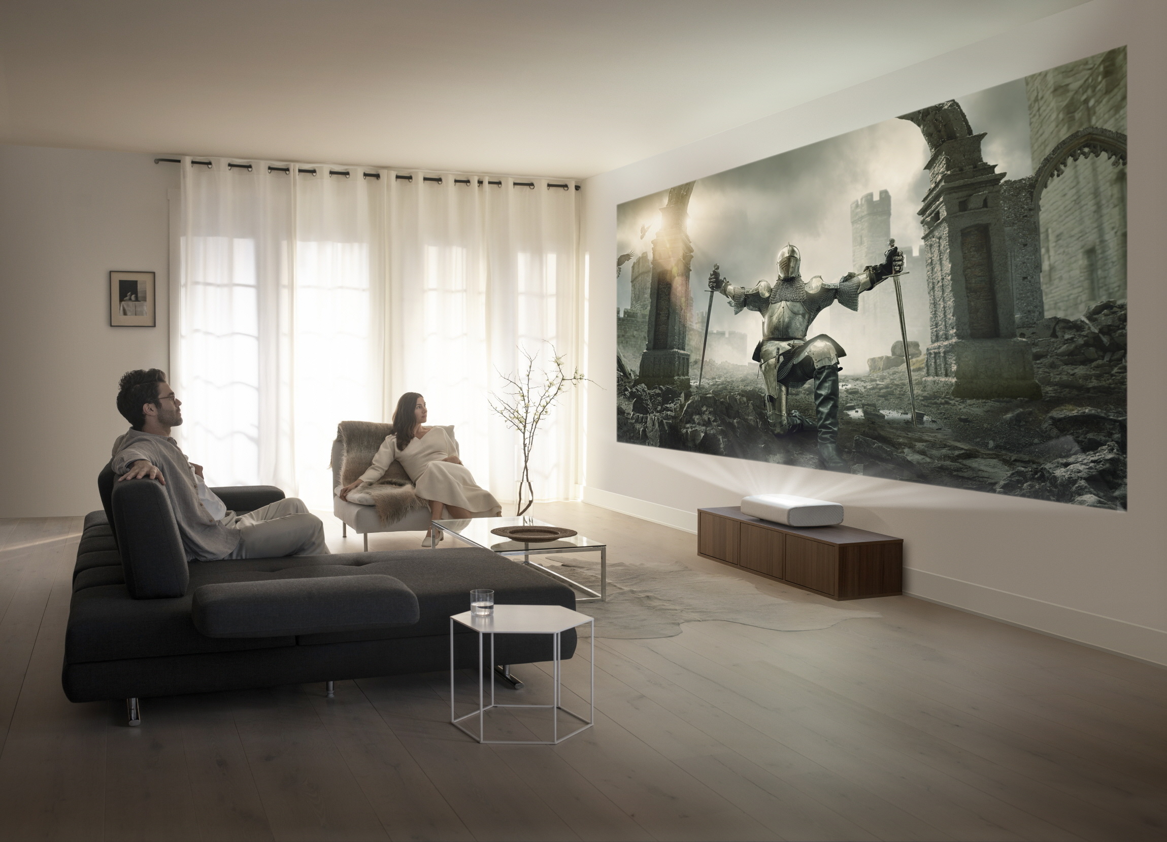 Samsung Announces 4K Ultra Short Throw Laser Projector: The Premiere