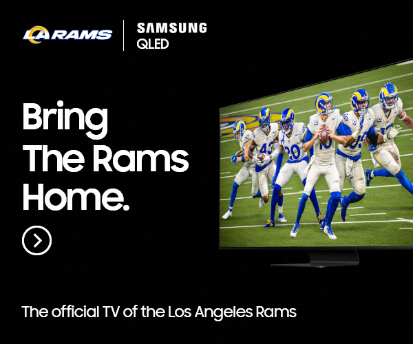 Samsung QLED TV becomes the official TV of Los Angeles Rams