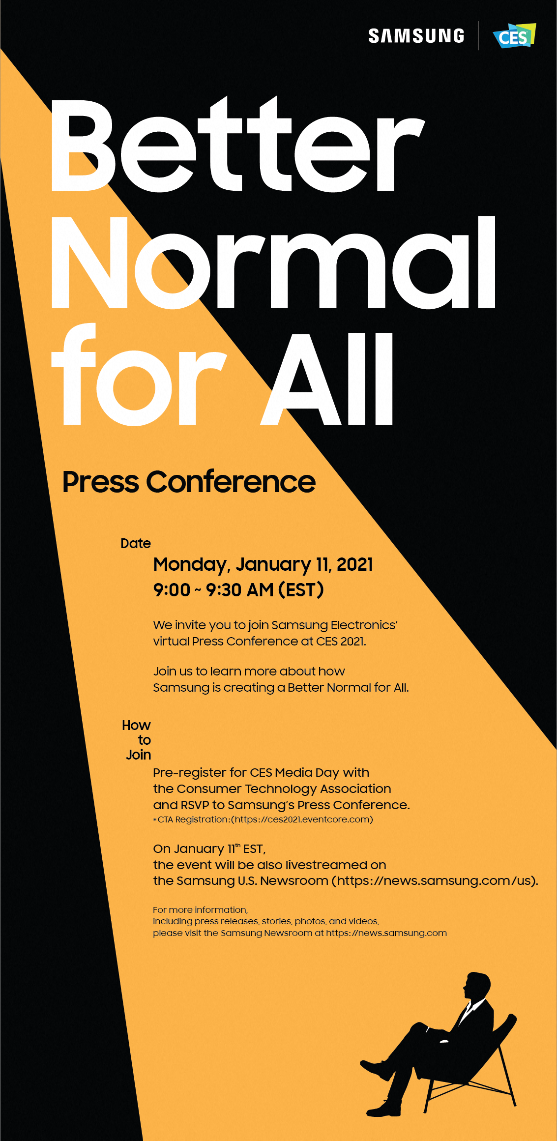[Invitation] A 'Better Normal for All': Samsung's CES 2021 Press Conference