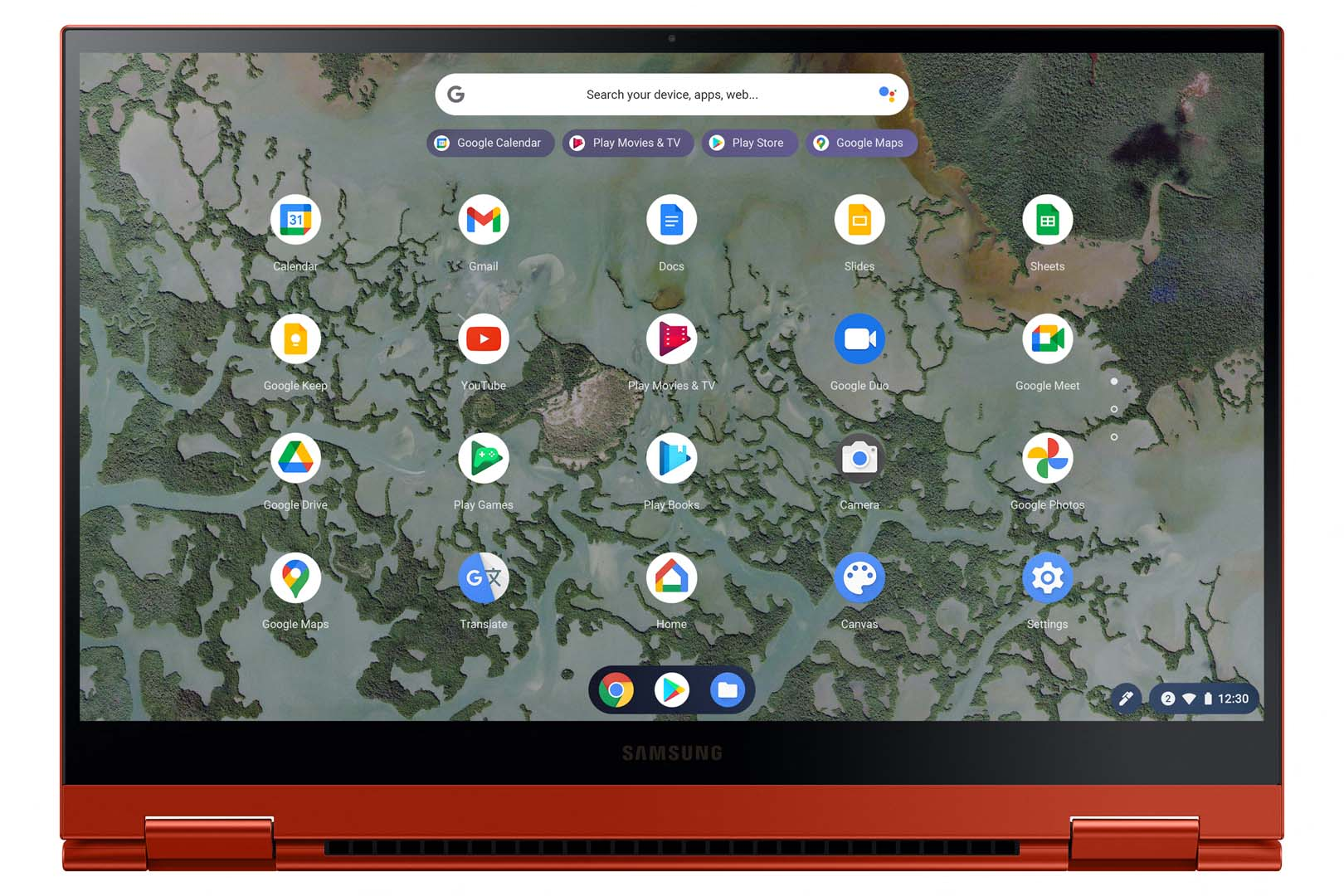 Galaxy Chromebook 2 QLED Front 2 Red