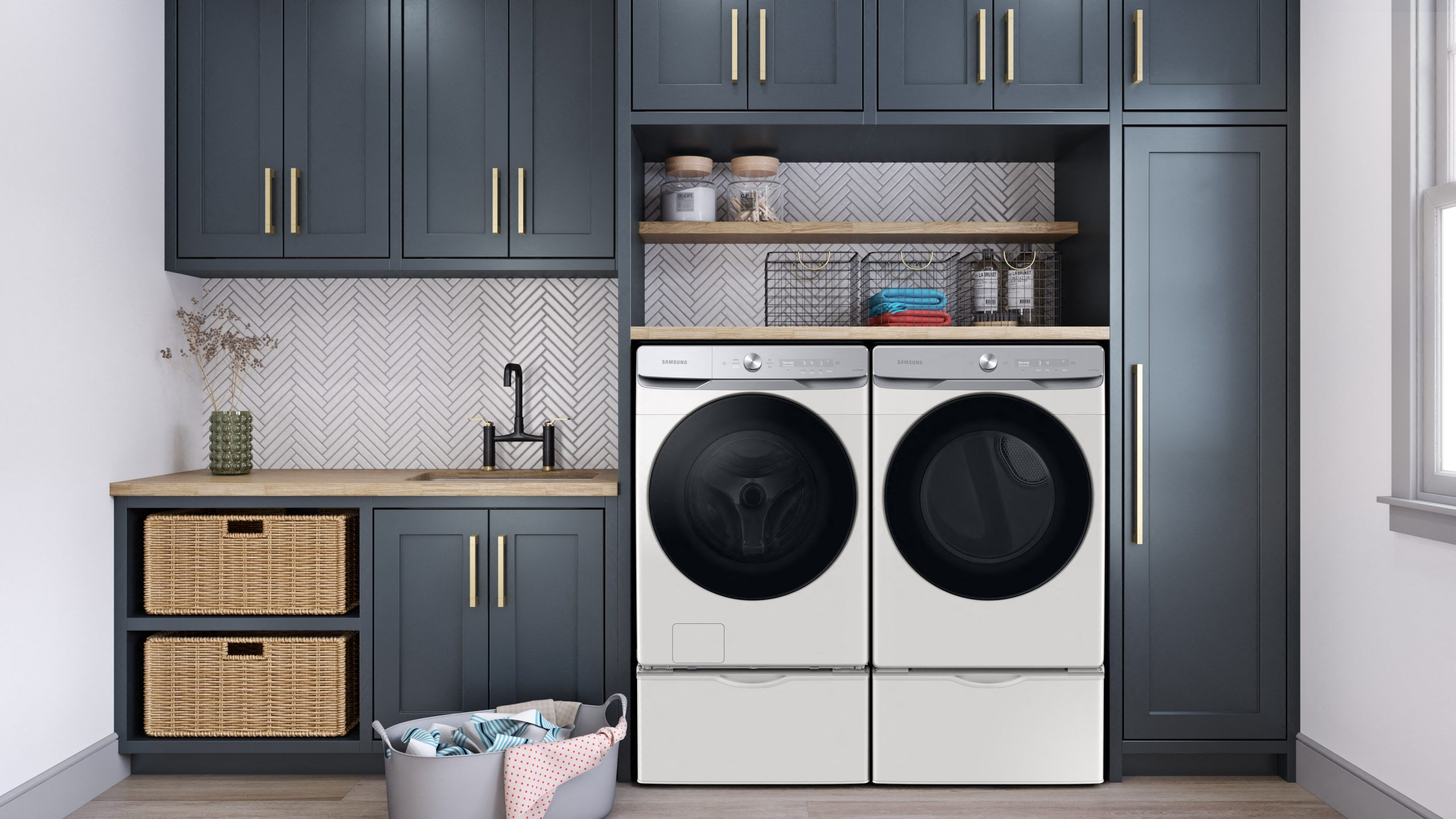 Samsung Laundry LAU8600 Side By Side