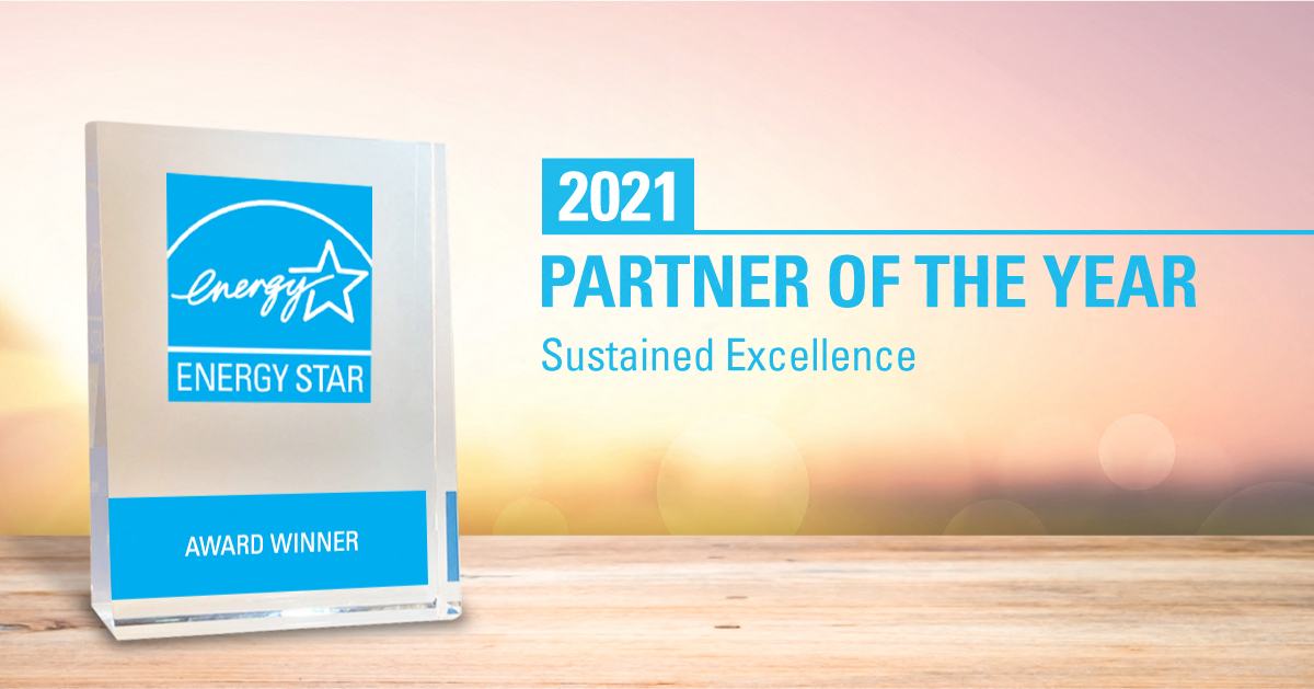 Samsung receives the 2021 ENERGY STAR Corporate Commitment Award from the U.S. EPA.