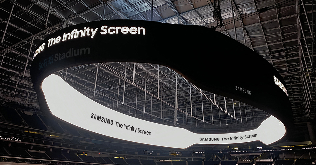 The Infinity Screen by Samsung at the SoFi Stadium