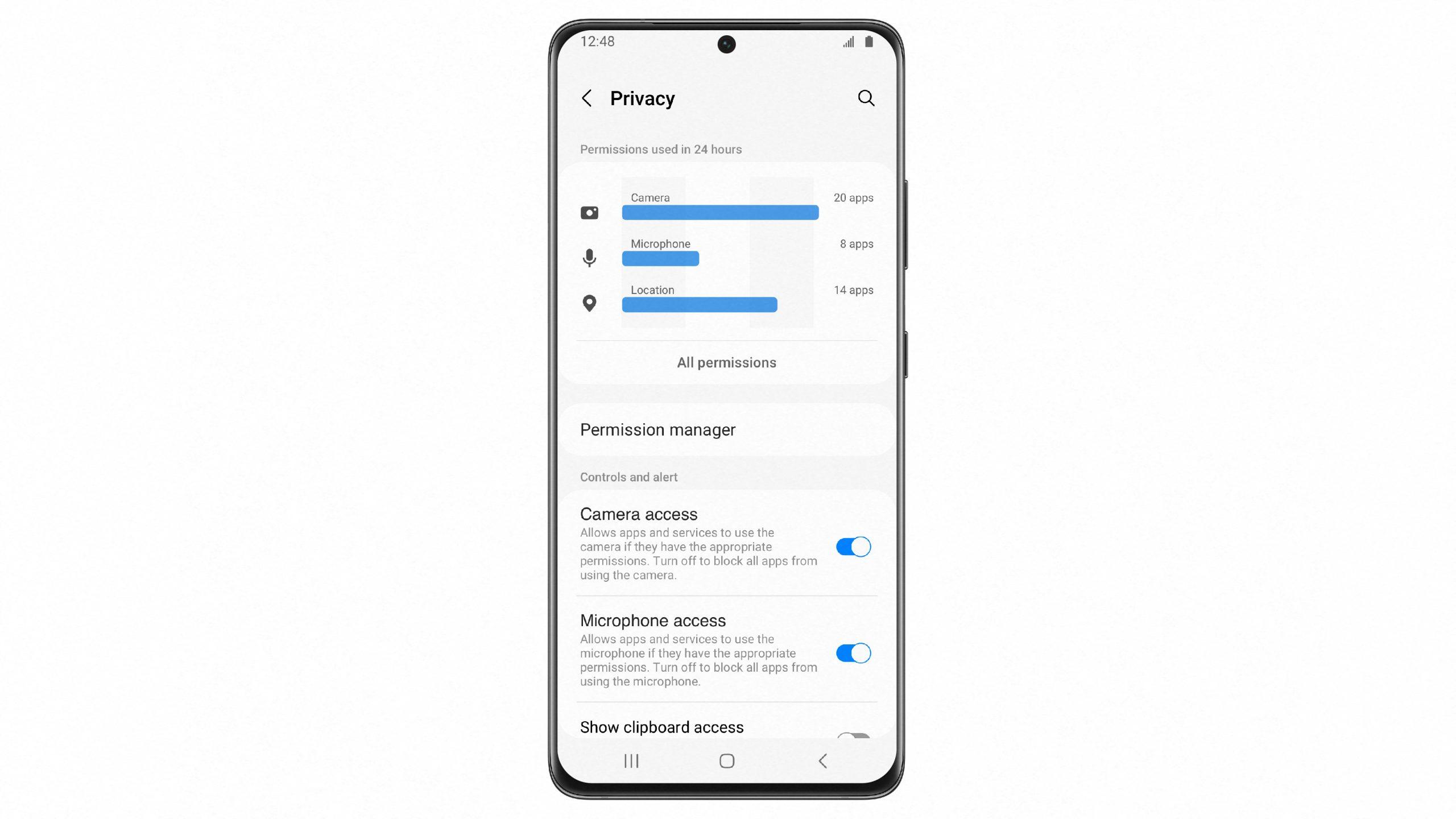 one ui 4 beta privacy_dashboard